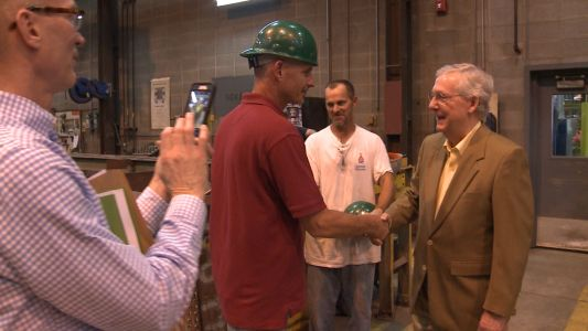 Sen. McConnell tours Caldwell Tanks, discusses tax reform bill