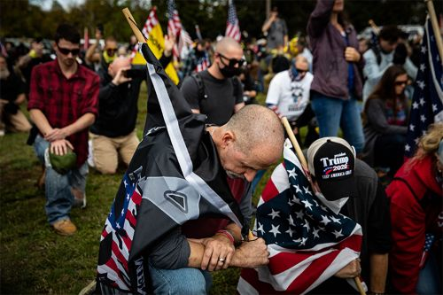 Proud Boys celebrate after Trump says 'stand back and stand by' at first debate
