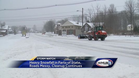Cleanup continues after heavy snowfall in parts of state