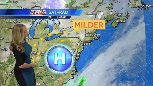 Video: Mild weekend ahead before another shot of cold air