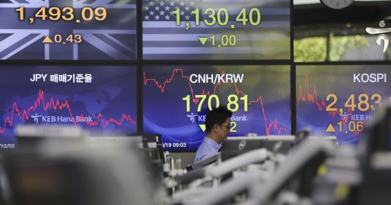Asian markets mixed as data shows China growth slowed