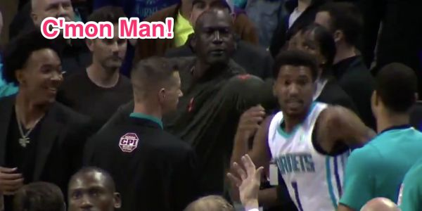 Michael Jordan went full dad-mode and smacked one of his players in the back of the head for getting a silly technical foul