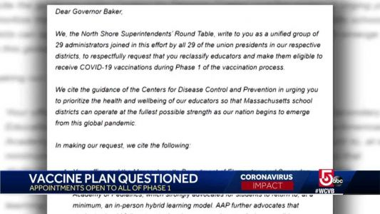 Gov. office responds after educators push for earlier Covid vaccinations