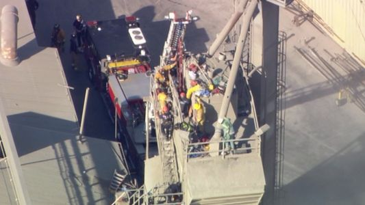 WATCH LIVE: Man rescued in Union City after being stuck in cement mixer for over 2 hours