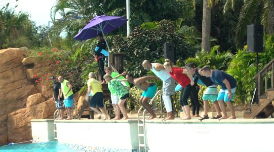 Taking the plunge at Aquatica with Special Olympics Florida