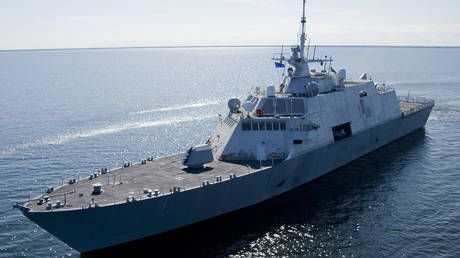 Freedom of navigation incident? US Navy combat ship plows into Canadian freighter