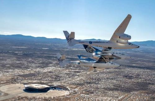 Virgin Galactic's VSS Unity space plane arrives at New Mexico spaceport