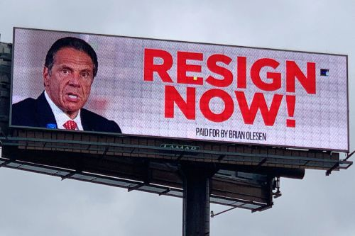 'Resign Now!' billboard targeting Gov. Cuomo amidst dueling scandals gets update