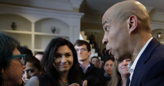 Ready to fight: Cory Booker shows his tough side to voters