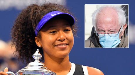 'Who did this?' Tennis queen Naomi Osaka pokes fun at herself with Bernie Sanders meme on Twitter after backing Biden inauguration