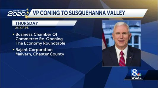 Vice President Mike Pence will be in Manheim, Lancaster County, this week