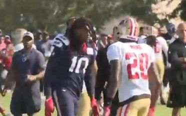 Helmet-less DeAndre Hopkins at the center of practice brawl