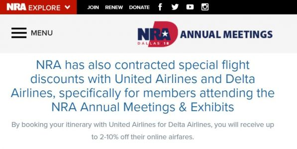 Delta and United offer NRA members discounts to fly to annual convention