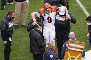 Bengals rookie Joe Burrow tweets, 'See ya next year,' after getting carted off with a scary knee injury