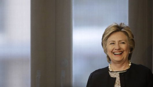 Hillary Clinton hits campaign trail at press-free event in New Jersey