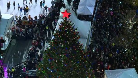 Watch: Cincinnati's Christmas tree lights up, kicking off holiday season
