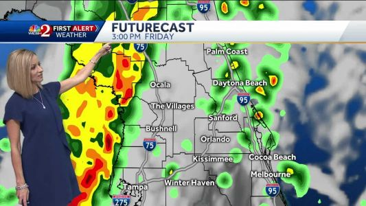 Nasty line of storms arrive Friday afternoon