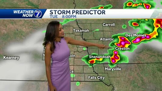 Mostly cloudy ahead of evening storm chances