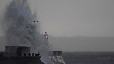 Staggering footage shows high winds battering northern Europe