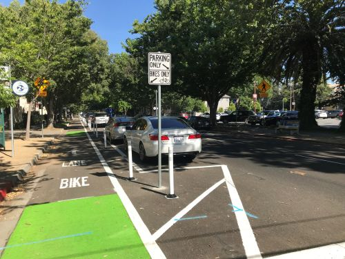 J Street bike lane construction begins Monday