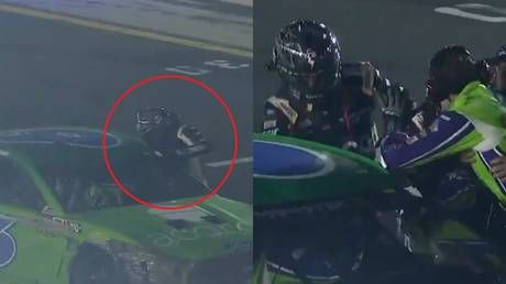 Nascar driver throws punches at opponent during All-Star Race