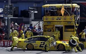 The Latest: Keselowski wins 2nd stage in Vegas playoff race