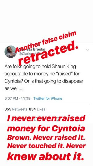 Shaun King Apologizes To Clarissa Brooks, She Refuses To Accept