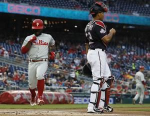 Herrera homers again, Phillies rout Nationals 12-2