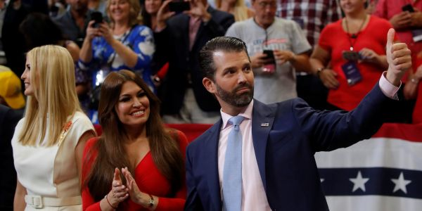 Trump Jr. mocked Biden for promising to cure cancer, then President Trump took the stage and promised to cure cancer