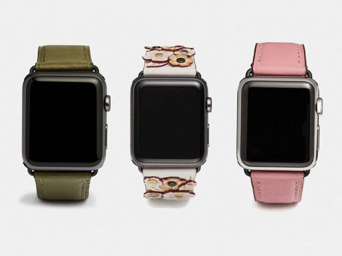 The new Coach Apple Watch Bands for winter have arrived