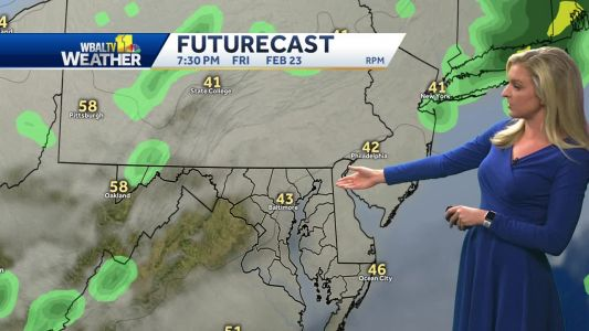 Taylor's day planner shows showers ending this evening