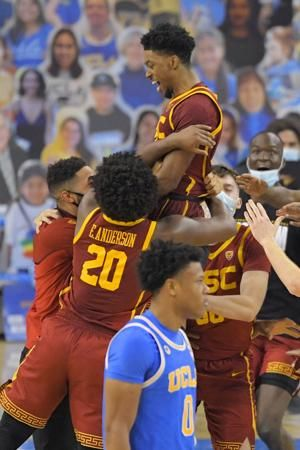 USC stuns UCLA 64-63 on Tahj Eaddy's last-second shot