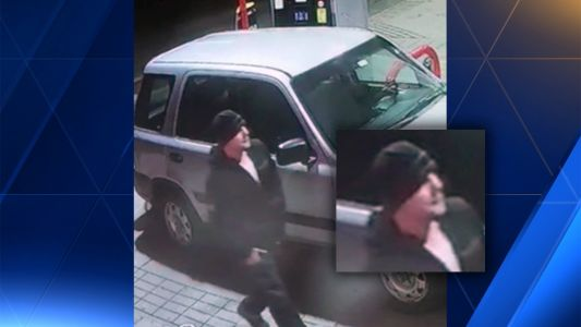 Surveillance video shows quick-moving gas station thief