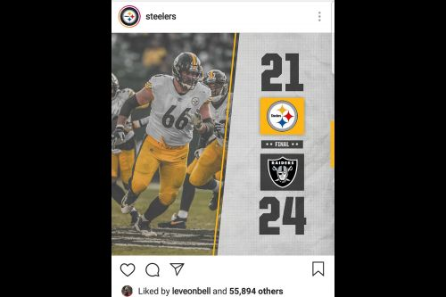 Le'Veon Bell likes Instagram post about Steelers' loss to Raiders