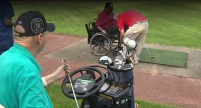 'I'm having the time of my life': Veterans with disabilities play golf again