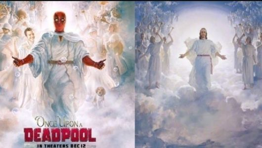 Outrage over 'Deadpool' poster that mimics iconic LDS painting of Jesus Christ