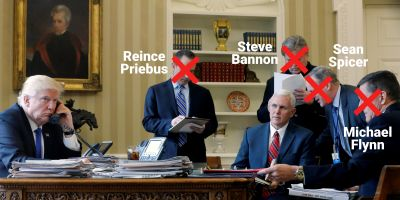 Brutal photo shows how much turnover there has been in Trump's top ranks