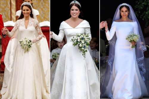 How does Princess Eugenie's wedding dress stack up against Meghan and Kate's?