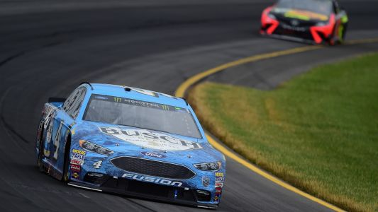 NASCAR results at New Hampshire: Kevin Harvick bumps Kyle Busch out of the way for 6th win