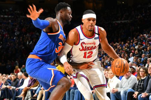 Knicks wrecked by Tobias Harris as short-handed 76ers roll