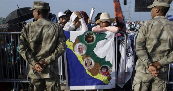 The Latest: Pope Francis arrives in northern Peru