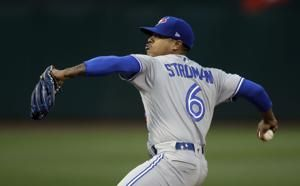 Blue Jays' Stroman shuts down Athletics for 1st win of year