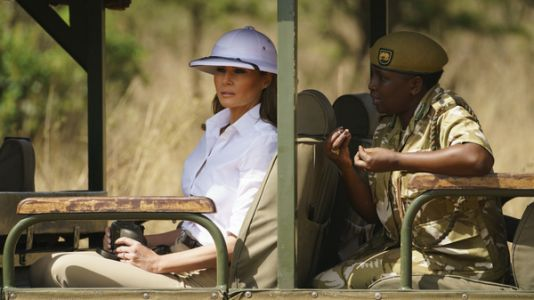 When Asked About Pith Helmet, FLOTUS Responds: 'Focus On What I Do, Not What I Wear'