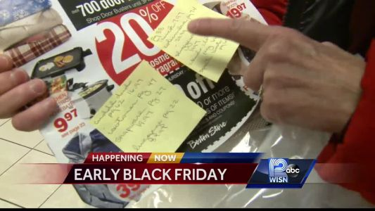 Shoppers get out early to grab Black Friday deals