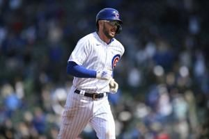 Bryant, Contreras lead Cubs over Braves in Kazmar's return