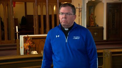 At Academy Of Holy Angels, Father Mike Offers Guidance To Athletes