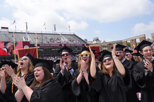 Happy day at Boston College commencement