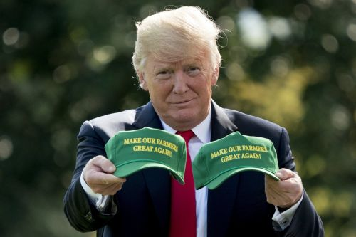 Trump repeats the false claim that China pays tariffs after rolling out a $16 billion bailout package for farmers