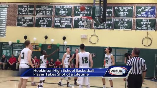Hopkinton student with cerebral palsy sinks shot of a lifetime on 'senior night'