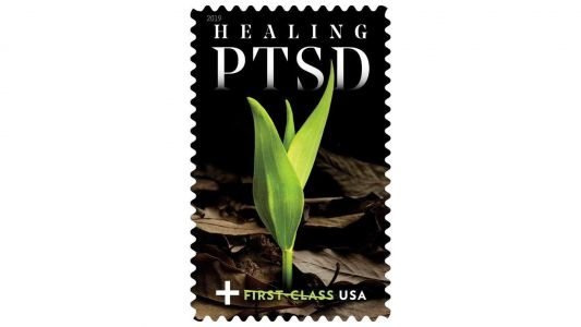 US Postal Service has a new stamp that will raise money to help veterans with PTSD